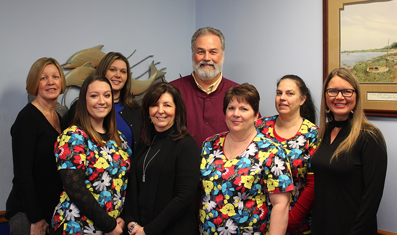 Dr. Creath and staff for Milford Pediatric Dentistry